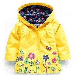 Jaqueta para meninas crianças capa de chuva impermeável meninos casacos de chuva meninas roupas outerwear menino casacos com capuz crianças roupas 2-6 anos