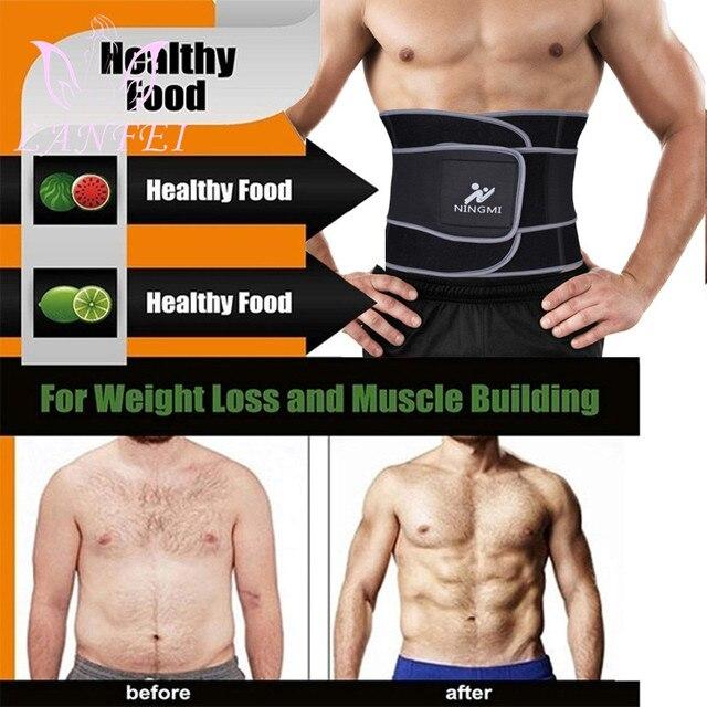 LANFEI slimming weight loss fat burner shit men sweat waist trainer trimmer belt hot neoprene body shapers tummy control corset 2