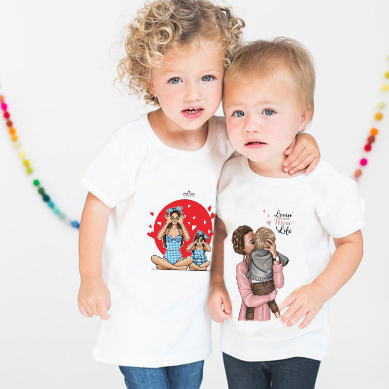 Thanksgiving <font><b>Birthday</b></font> <font><b>Tshirt</b></font> Funny T-shirt Girl Kawaii Kids Shirt Super Mom Love <font><b>Baby</b></font> Warm Print Boys T Shirt Casual Vogue Cozy image