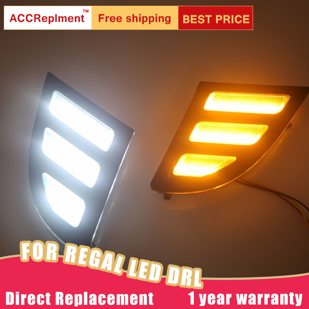 Led Daytime Running Lights For Buick Regal Gs 2012 2016 High Brightness Led Drl Guide Led Fog Light With Turn Signal Light 1 Pai Car Light Assembly Aliexpress