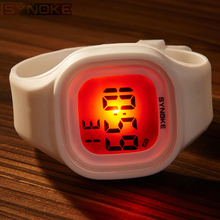 SYNOKE Children's Kids Watches New Silicone Candy Color