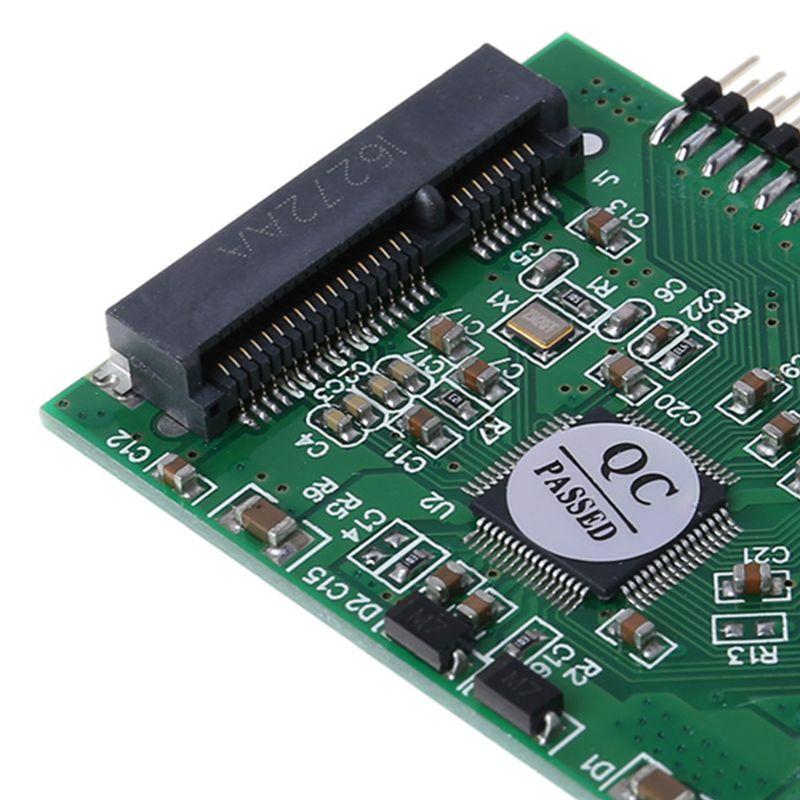 מקרנים ופלאזמות MSATA SSD דיסק קשיח ל 44 מתאם ממיר פין IDE 2.5 אינץ IDE HDD עבור מחשב נייד (5)