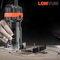 LOMVUM-recortador de madera eléctrico, fresadora de madera, grabado, ranurado, máquina de tallado, enrutador de madera, herramientas eléctricas para carpintería