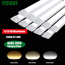 YISIONY 10 PCS 120CM Surface Mounted LED lamp tube Slim line Panel Ceiling Lights tube Office Lamps светильник светодиоднй Home