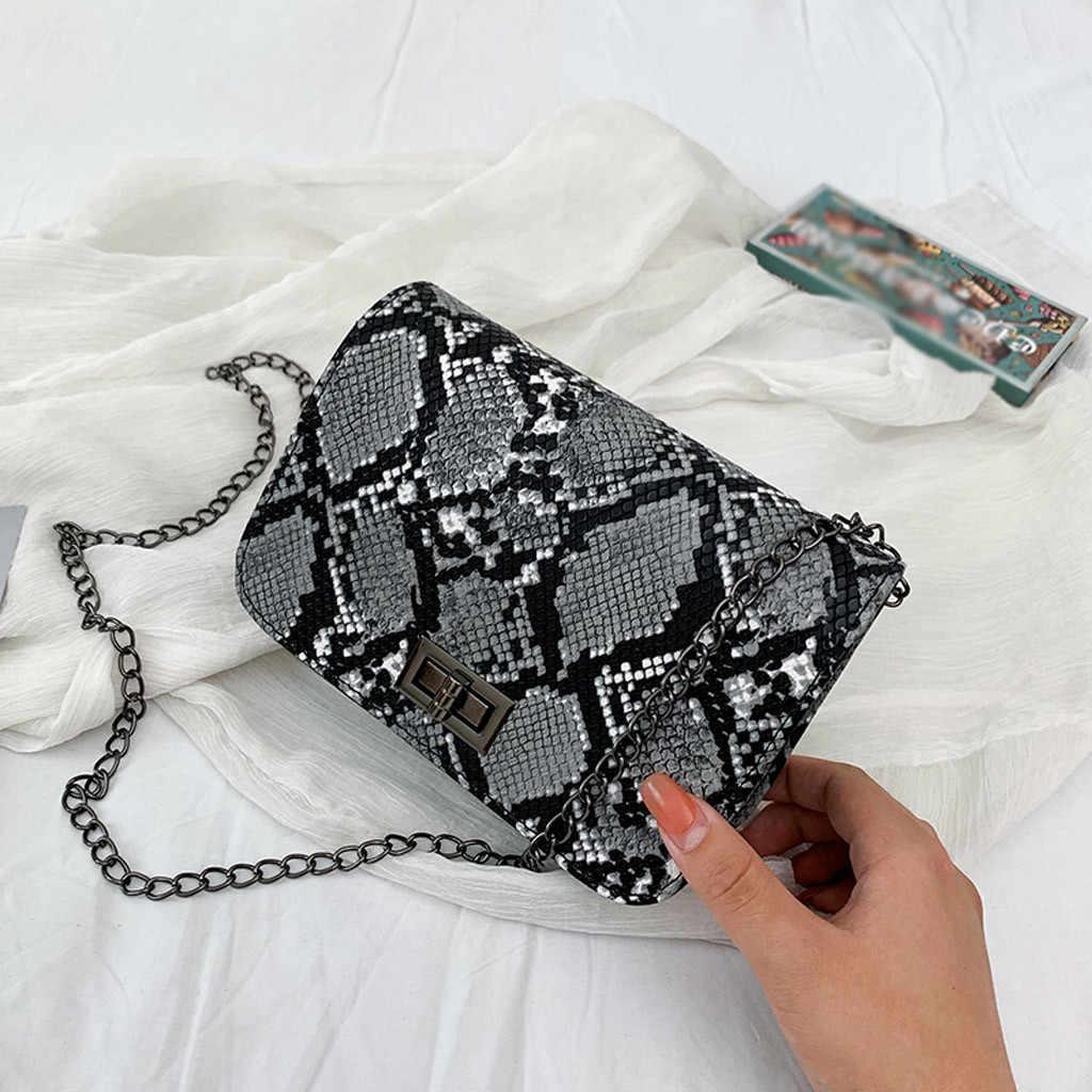 25 # bolsas de luxo bolsas femininas designer serpentina pequena praça crossbody sacos selvagens meninas cobra impressão ombro saco do mensageiro