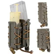 Molle-bolsa para revistas militar, estuche para pistola Mag de 9mm, 45acm, 5,56, 7,62, cinturón Molle, conjunto de transporte rápido