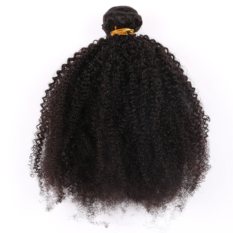 "Image 4 - Mongolian Afro Kinky Curly Hair Weave 4B 4C Natural Black Raw Remy Human Hair Bundles Extension 3 Hair Products Venvee 10 26""-in Hair Weaves from Hair Extensions & Wigs"