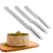 Hifuar 6/8/10 cali szpatułka do kremu ze stali nierdzewnej na ciasto DIY ciasto dekorowanie narzędzia narzędzia kuchenne ciasto maślane kremowa szpatułka