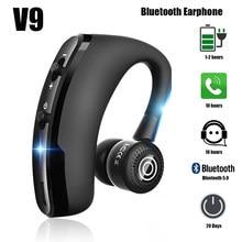 V9 tws bluetooth fones de ouvido sem fio handsfree negócios fone com mic drive chamada esportes para smartphones