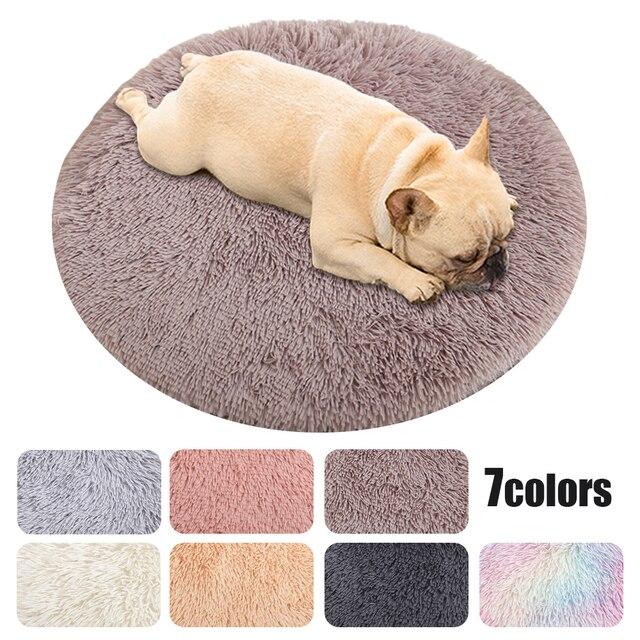 Pet Cat Dog Nest Dual Use Warm Soft Sleeping Bed  1