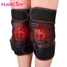 цена на Rechargeable Heating Knee Massager Vibration Knee Brace Apparatus Physiotherapy Arthritis Recovery Washable Knee Pad Pain Relief