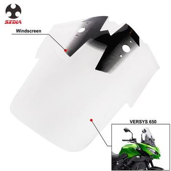 Motorcycle Plastic Windshield WindScreen Wind For KAWASAKI Versys 650 1000 LT For Harley XL883 XL1200 48 72 1991-2017