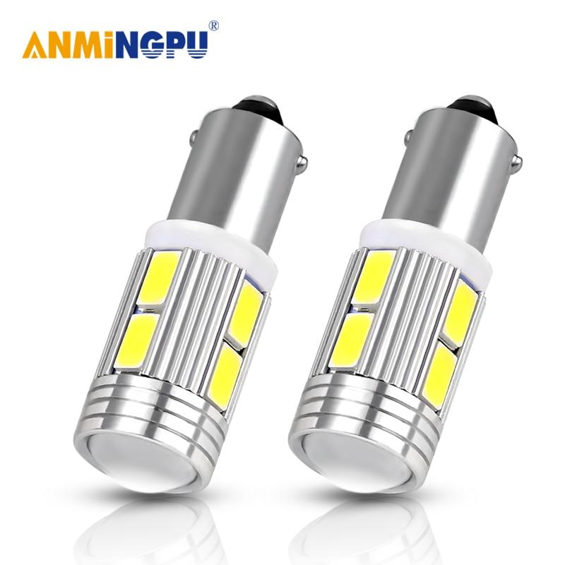 Amningpu 2x lâmpada de sinal ba9s 12 v 5630smd led t4w ba9s carro led interior lâmpada dome luzes leitura luzes da placa de licença