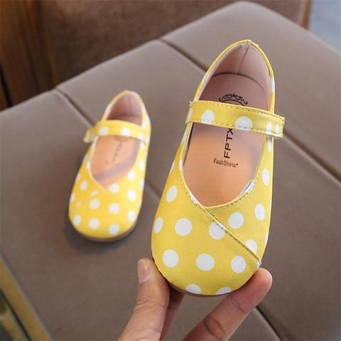 sapatos primavera outono criancas sola macia dot