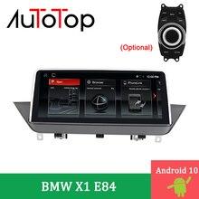"AUTOTOP 10.25 ""자동차 모니터 안드로이드 10.0 BMW X1 멀티미디어 BMW X1 E84 2009 2015 GPS 네비게이션 DVD 스테레오 idrive 자동차 플레이어"