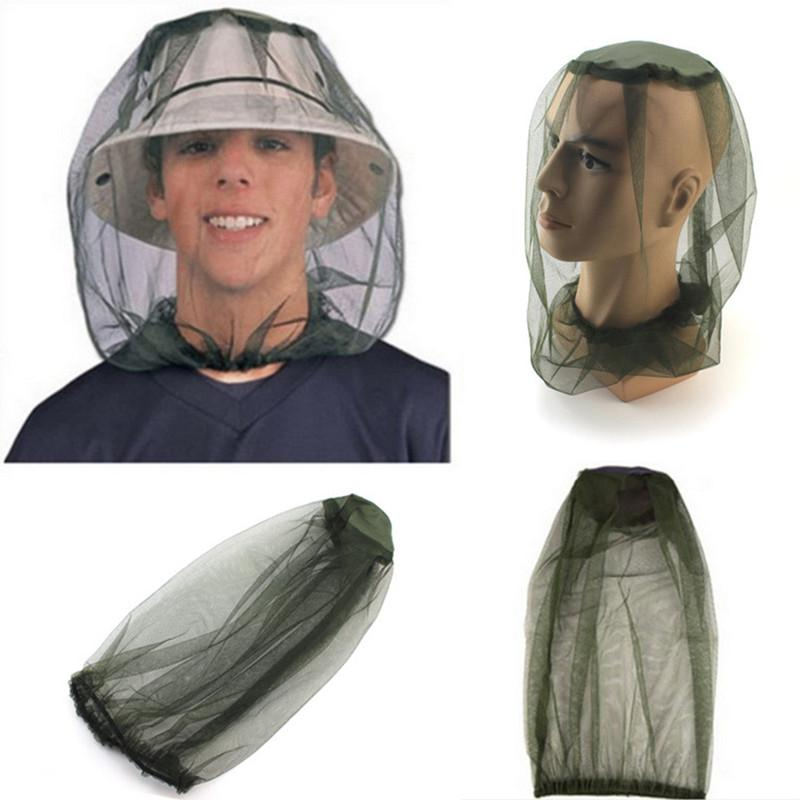 HobbyLane Lightweight Breathable Anti-mosquito Mask Hat Mosquito Head Net Face Protector For Backpacking Camping Fishing