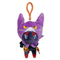 New Anime keyring With Crobat Hooded Cape Zorua Pumpkin Parade Plush Keychains Soft key chain Christmas Doll Toys 6.5 Inch