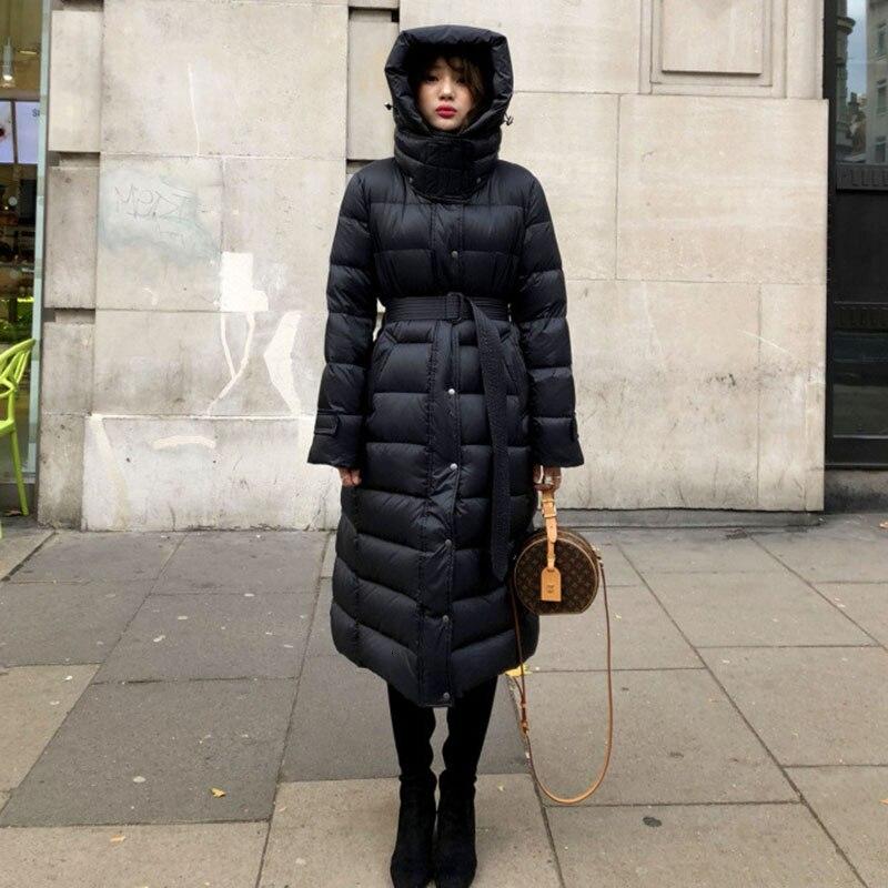 90% Duck   Down     Coat   320g Jackets Woman Winter X- Long Overknee Super Thick Loose   Coat   Female Parka Women Korean Puffer Super Warm