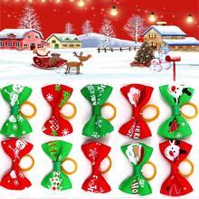 10 шт/лот рождественские резинки для домашних животных в ассортименте