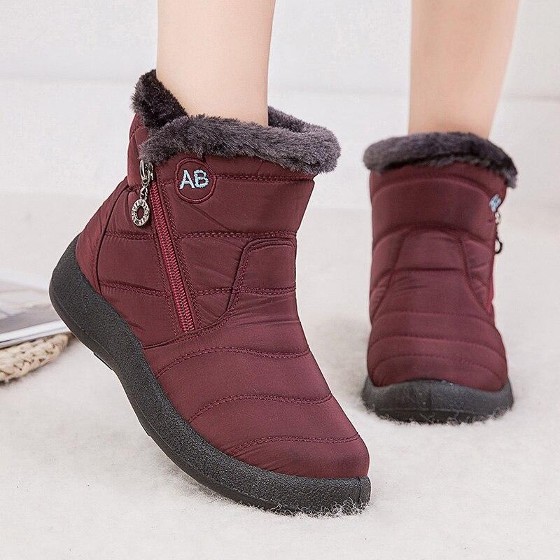 Женские ботинки 2020, модные водонепроницаемые зимние ботинки, женская зимняя обувь, Повседневные Легкие ботильоны, женские теплые зимние ботинки|Зимние сапоги| | АлиЭкспресс