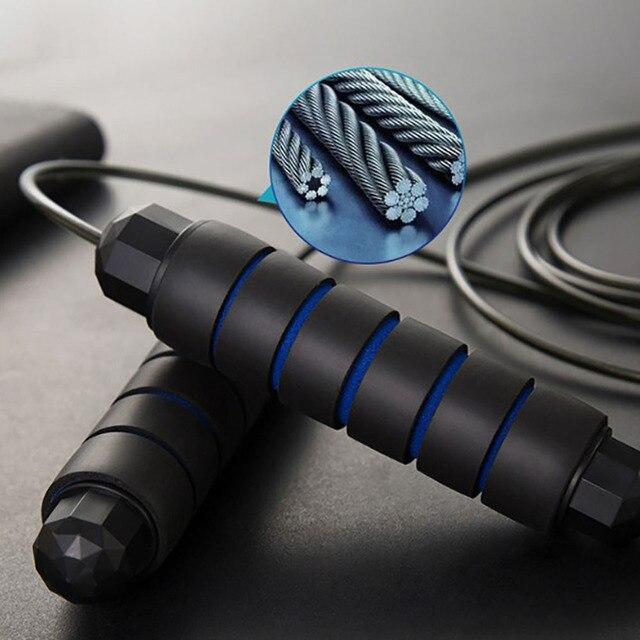 Unisexe sans embrouillement avec roulements à billes vitesse rapide corde à sauter Crossfit extrait et Fitness équipements dentraînement sauter pied D30