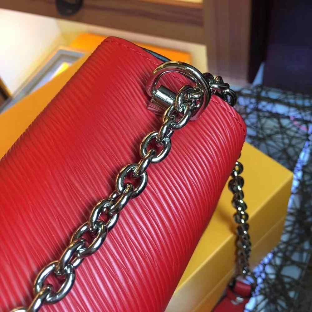 Mewah Terkenal Desainer Merek LOGO Wanita Kulit Tas Tangan Kulit Asli Kualitas Tinggi Rantai Messenger Bahu Tas Louis Tas