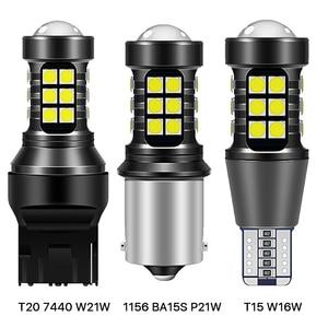 2x W16W T15 1156 P21W BA15S 7440 W21W WY21W светодиодный лампы 3030 27SMD Canbus Резервное копирование светильник 921 912 заднего хода автомобиля Лампа ксенон белый 12V