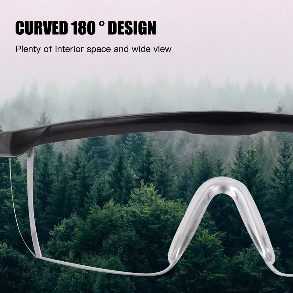 12Pcs Splash proof Glasses Eye Protective Glasses PC Protective Safety Goggles Sport Windproof Eyewear Work Protection Glasses