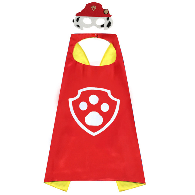 Paw Patrol toys set Mask Cape Cloak Cosplay Cartoon paw patrol Birthday Gifts Christmas Halloween party decoration Kids Toy 3