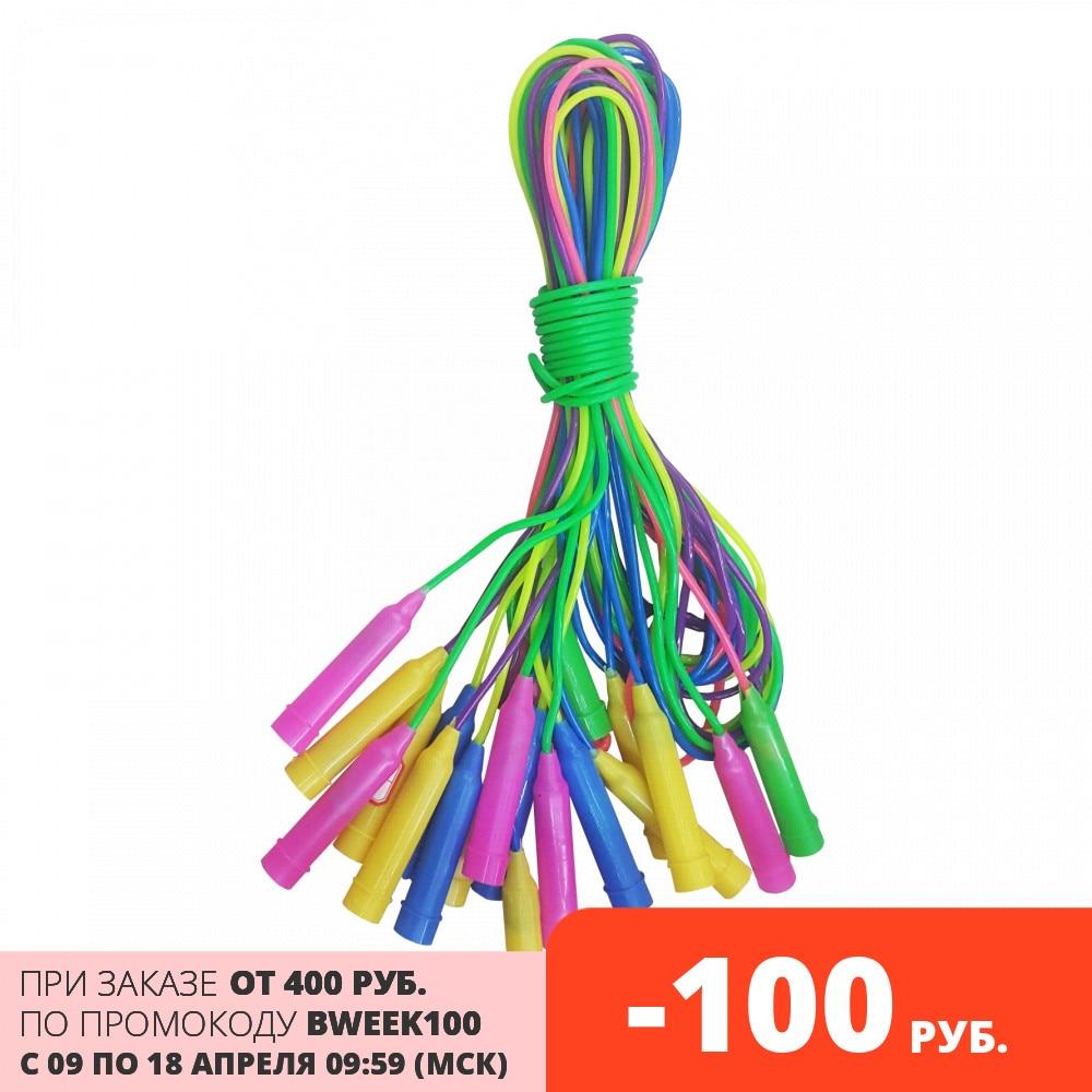 1toy скакалка, 2,8 м., пласт. ручка и шнур, 4 цвета микс