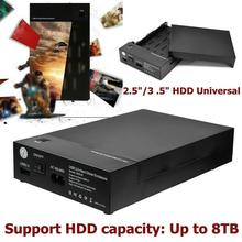 HDD 케이스 3.5 인치 SATA USB 3.0 SSD 어댑터 하드 PC 노트북 데스크탑 HDD 드라이브 인클로저 박스 외부 디스크 D2O8