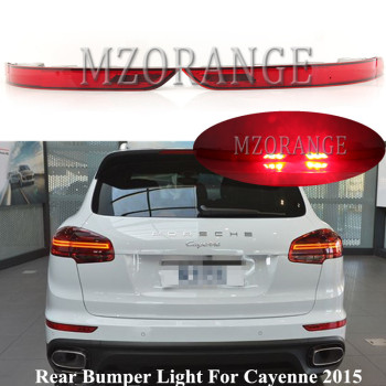 MZORANGE Car Styling Red LED Lens Rear Bumper Reflector Light For Porsche Cayenne 2015 Tail Light Tail Brake Stop Warnning Lamp