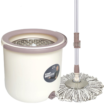 Miaojia mop bucket rotating mop single barrel good god drag dry wet dual-use automatic household lazy hand-free wash mop