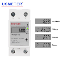 Mr Digital Electric Consumption kWh Din Rail Smart Energy Meter WiFi Power Meter Watt Remote Switch Control Monitor 110V 220V AC