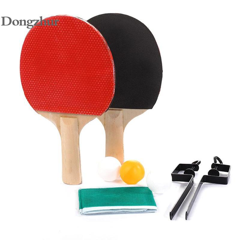 Table Tennis Set 1.45m Tennis Net Rack 1 Pair Table Tennis Paddle 3 Balls Pingpong Training Accessories Set Table Tennis Rackets