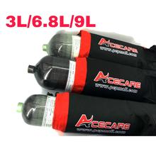 Acecare Scuba Tank 3L/6.8L/9L Carbon Fiber Cylinder PCP Paintball Tank 4500psi for HPA Compressed Airgun/Airsoft With Bagpack