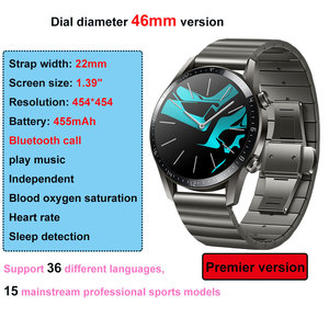 Image 5 - Huawei Watch GT/GT 2 Smart Watch Bluetooth 5.1 Can Talk Blood Oxygen Tracker Spo2 Music Player Watch For Android IOS