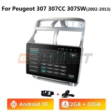 Car Multimedia Bluetooth-Player 307CC Peugeot 307 2din Android10 Gps Navigation Car-Radio