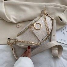 SWDF-Bolso pequeño de hombro con cadena para mujer, bolsa cruzada de viaje, sencilla, bolso cruzado de cuero PU, 2021