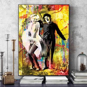 Graffiti Art Celebrities Paintings Printed on Canvas 2