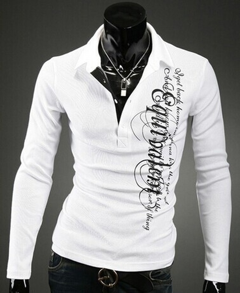 ZOGAA 2019 Men's   Polo   Shirt Fashion Casual Solid   Polos   Breathable Summer Autumn Male Letter Printed Shirt Turn-down Collar Tops
