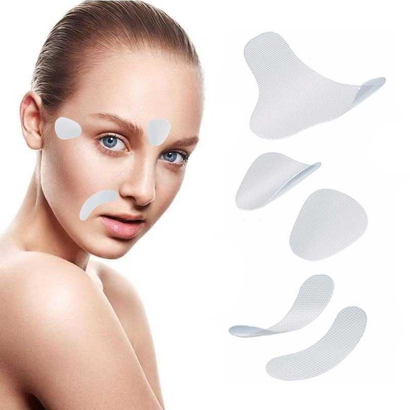 12/24/27 unids/set Unisex adhesivos de caras delgadas EVA parches de resina antiarrugas funcionan en la línea Facial arrugas flaccidez belleza piel levantar