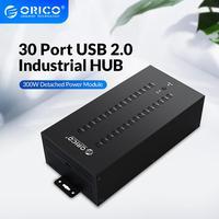 ORICO 30 Ports Industrial USB2.0 Hub for TF SD Card Reader U disk Data Test Batch Copy Black