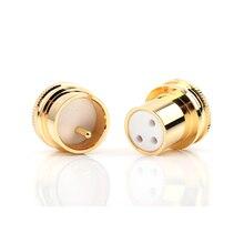 عالية الجودة 4 قطعة/الوحدة الضوضاء سدادة مطلية بالذهب النحاس XLR التوصيل قبعات ، XLR حماية غطاء الضوضاء سدادة