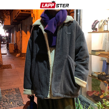 LAPPSTER Winter Jacket Wool Men 2020 Men Colorful Korean Fashions Parka Male Warm Black Harajuku Vintage Coats Thick Clothing