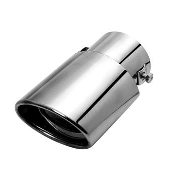 Customised size 1 pair Stainless steel blue Universal exhaust pipe for all car universal muffler tip double out exhaust tip image