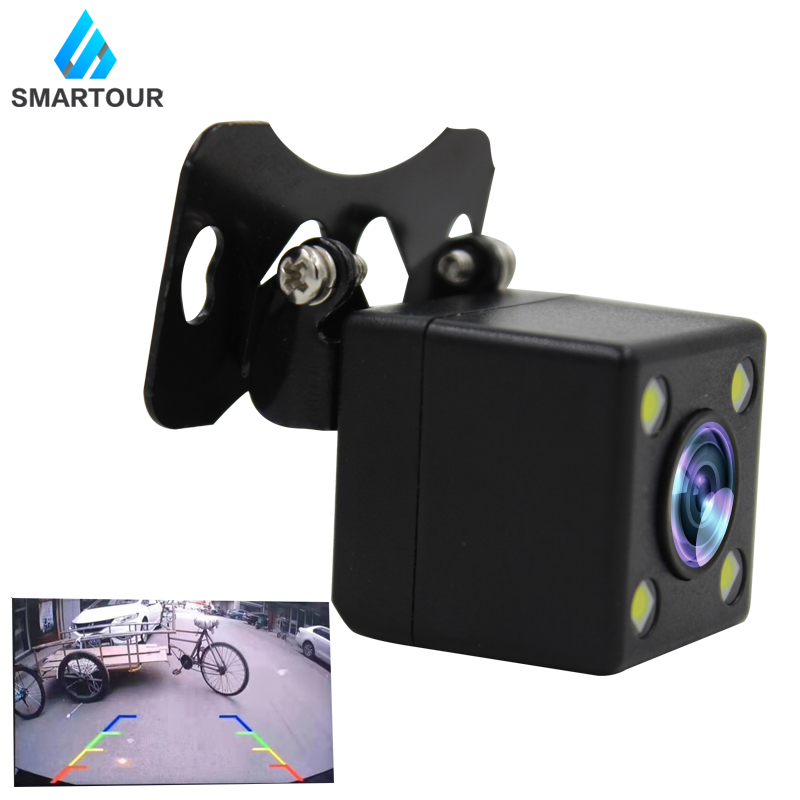 Smartour Car Universal External Reversing Camera 4LED Light Infrared Parking Rear View Image Waterproof HD Night Vision Camera