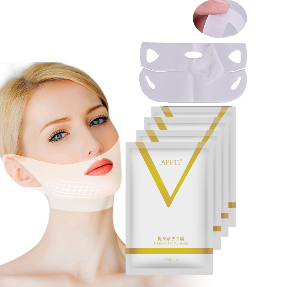 Face Lift Slimming Mask V Line Chin Up Patch 4D Reduce Double Chin Tape Neck Firming Shape Mask US BR Do Dropshipping