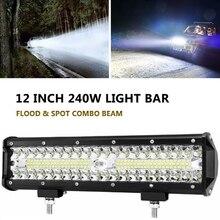 12 zoll 240W LED Licht Bar Für Auto Fahren Fahrzeug Offroad Zubehör 4x4 Lkw ATV SUV Arbeit licht Auto Scheinwerfer Combo Strahl