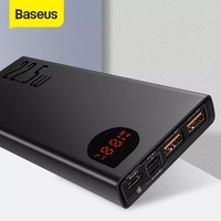 Baseus-cargador de batería portátil, 20000mAh, 22,5 W/65W, tipo C, USB, Cargador rápido, para iPhone y Huawei